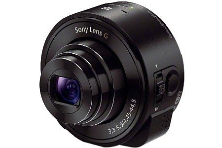 Bild Sony SmartShot DSC-QX10, das Modell mit dem kleineren Sensor, aber optischem 10-fach-Zoom. [Foto: Sony]