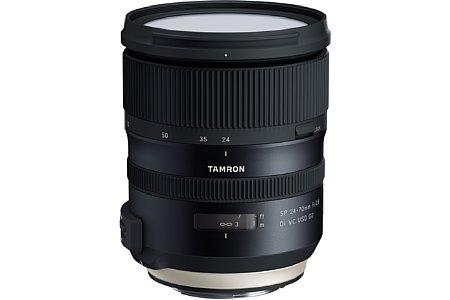 Bild Eine Nanovergütung soll beim Tamron SP 24-70 mm f2.8 Di VC USD G2 (A032) für weniger Reflexionen sorgen, ein MTF-Tester für eine höhere Bildqualität in der Serienproduktion. [Foto: Tamron]