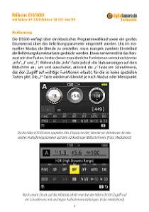 Bild Zusätzliche Fotos in der ausführlichen Testbericht-Version zeigen z. B. das Bildschirmmenü der Nikon D5500 Testbericht Seite 6. [Foto: MediaNord]