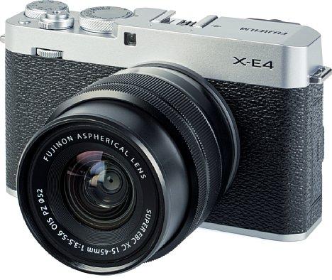 Bild Die X-E4 ist die kompakteste Systemkamera von Fujifilm. Technisch entspricht sie der X-S10 und bietet damit viel Technologie für den Preis, etwa eine 4K-Videofunktion oder einen schnellen Phasen-Autofokus. [Foto: MediaNord]