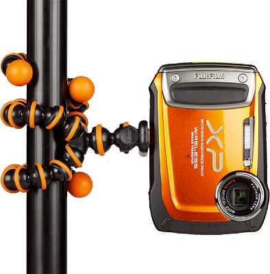 Joby GorillaPod schwarz/orange Anwendungsfoto [Foto: MediaNord]