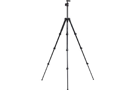 Bild Manfrotto Befree MKBFRA4-BH in maximaler Arbeitshöhe von 144 cm. [Foto: MediaNord]