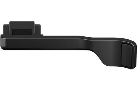 Bild Die optionale Daumenstütze Fujifilm TR-XE4 wird in den Blitzschuh geschoben und bietet eine stabile Daumenauflage. [Foto: Fujifilm]