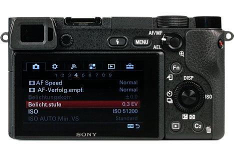 Bild Die Sony Alpha 6300 bietet nicht nur ein Klappdisplay, sondern sogar einen eingebauten elektronischen Sucher. [Foto: MediaNord]