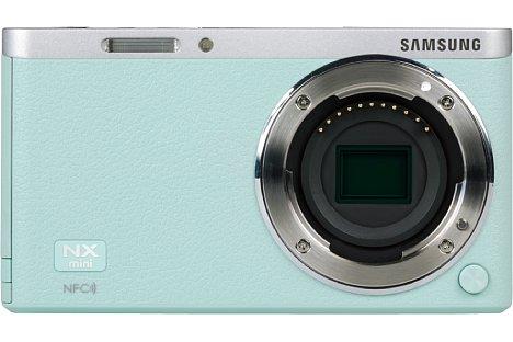 """Bild Der BSI-CMOS-Sensor der Samsung NX mini löst rund 20 Megapixel auf, der 1""""-Sensor gehört mit 13,2 x 8,8 Millimeter unter den Systemkameras eher zu den kleineren Modellen. [Foto: MediaNord]"""