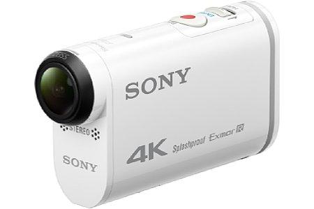 Bild Ein großer 4K-Aufdruck an der Seite der Sony FDR-X1000V weißt auf deren hohe Video-Auflösung hin. [Foto: Sony]