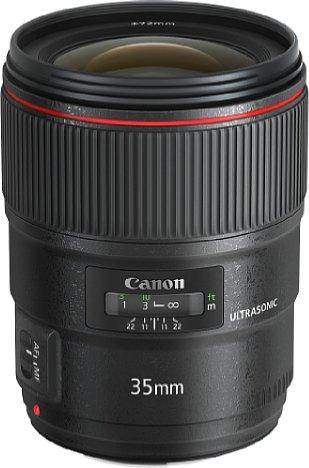 Bild Mit elf Zentimetern Länge und einem Gewicht von gut 750 Gramm fällt das Canon EF 35 mm 1.4 L II USM recht wuchtig aus. [Foto: Canon]