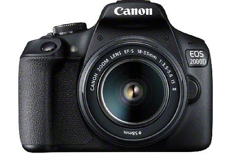 Bild Ab April 2018 soll die Canon EOS 2000D im Set mit dem EF-S 18-55 mm F3.5-5.6 IS II für knapp 500 Euro erhältlich sein. [Foto: Canon]