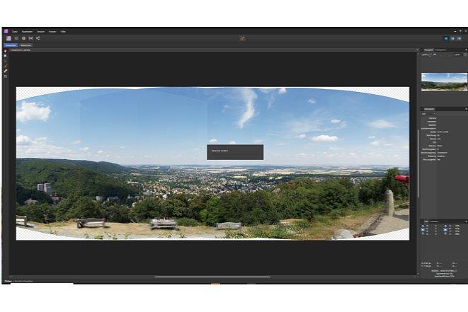 Bild Je nach Leistung des Rechners arbeitet die Software durchaus eine Weile an dem Zusammenstellen des Panoramas. [Foto: Medianord]