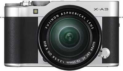 Die neue Fujifilm X-A3 kommt mit einem teilweise aus Aluminium gefertigten Gehäuse und hochwertigen Kunstleder-Applikationen. [Foto: Fujifilm]