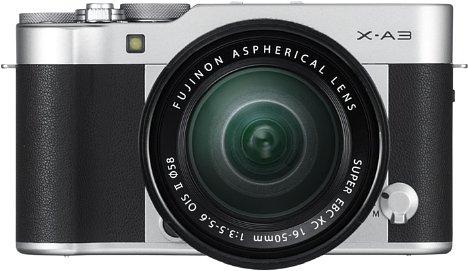 Bild Die neue Fujifilm X-A3 kommt mit einem teilweise aus Aluminium gefertigten Gehäuse und hochwertigen Kunstleder-Applikationen. [Foto: Fujifilm]