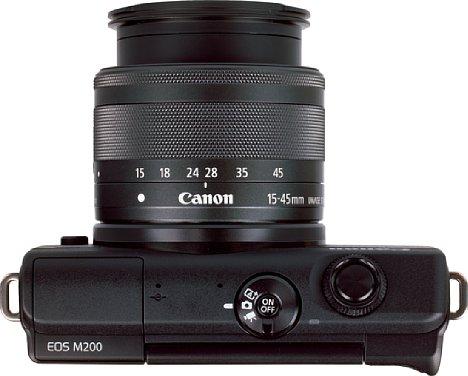 """Bild Damit das Canon EF-M 15-45 mm IS STM eingesetzt werden kann, muss es auf """"Arbeitsbrennweite"""" herausgefahren werden. [Foto: MediaNord]"""