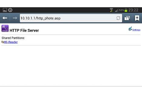 Bild Simpel aber funktional: Die Web-Oberfläche des Hama Kartenlesers. [Foto: MediaNord]