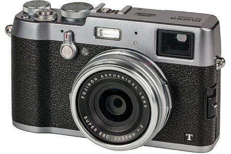 Bild Die aus robustem Metall gefertigte Fujifilm X100T sieht aus wie eine klassische Messsucherkamera. [Foto: MediaNord]