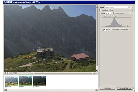 Bild 32-Bit-Zwischenergebnisse aus dem HDR-Dialog lassen sich in Photoshop CC per Schaltfläche direkt an den Raw-Dialog weitergeben. [Foto: Heico Neumeyer]