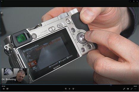 "Bild Screenshot aus dem Schulungsvideo""Sony Fortgeschrittenenseminar"". [Foto: MediaNord]"