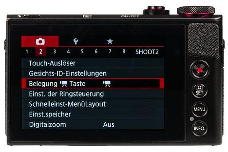 Bild Ohne den 7,5 Zentimeter großen Touchscreen lässt sich die Canon PowerShot G9 X nicht bedienen, denn es fehlt ihr unter anderem das Vierwegekreuz. [Foto: MediaNord]