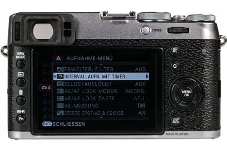 Bild Auf der Rückseite bietet die Fujifilm X100T ein 7,5 Zentimeter großes, hoch auflösendes Display, das von Bedientasten eingerahmt wird. [Foto: MediaNord]