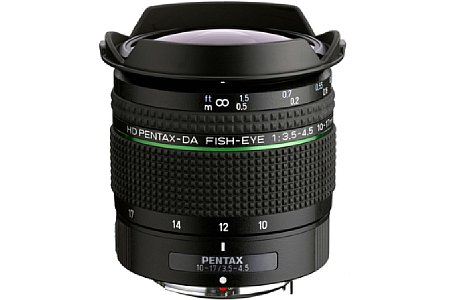 Pentax HD-DA Fish-Eye 10-17 mm 3.5-4.5. [Foto: Pentax]