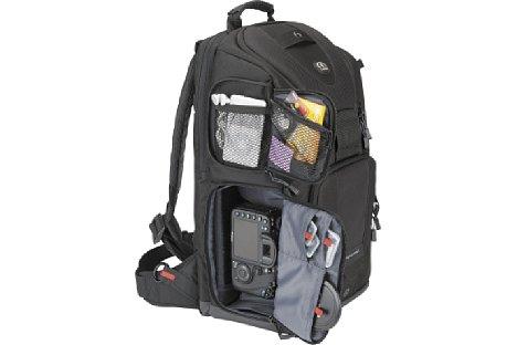 Bild Die zahlreichen Taschen und Fächer des Evolution 8 ermöglichen die volle Kontrolle über das Zubehör. [Foto: Tamrac]