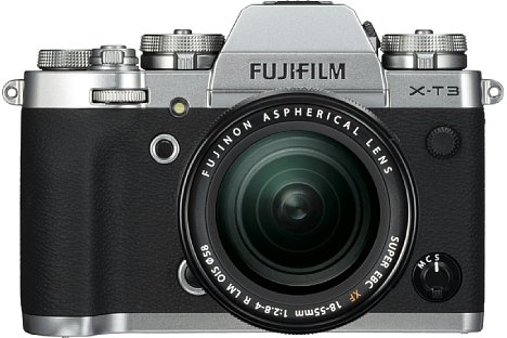 Bild Fujifilm X-T3 mit XF 18-55 mm. [Foto: Fujifilm]