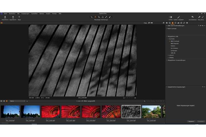 Bild Mit den Bildstilen lassen sich in Capture One Express beispielsweise mit einem Klick Schwarzweiß-Fotos erstellen. [Foto: MediaNord                              ]