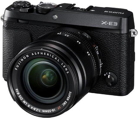 Bild Ab Ende September 2017 soll die Fujifilm X-E3 zu einem Preis von knapp 900 Euro, in den Farben Schwarz und Silber-Schwarz erhältlich sein. Das Set mit demFujinon XF 18-55 mm F2.8-4 R LM OIS soll knapp 1.300 Euro kosten. [Foto: Fujifilm]