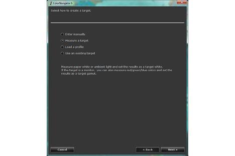 Bild Im ColorNavigator können auch ein individuelle Kalibrations-Targets erstellt werden. [Foto: MediaNord]