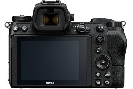 Bild Auf der Rückseite bieten die Nikon Z 7 und Z 6 einen 3,7 Millionen Bildpunkte auflösenden elektronischen Sucher und ein 8,1 Zentimeter großes Touch-OLED mit 2,1 Millionen Bildpunkten Auflösung. [Foto: Nikon]