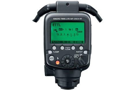 Bild Das Display des MT-26EX-RT basiert auf dem Display des 600EX II-RT. [Foto: Canon]