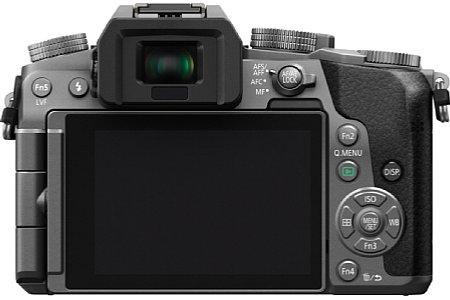 Bild Beim Sucher der Panasonic LumixDMC-G7/G70 kommt nun ein 2,36Millionen Bildpunkte auflösendes OLED zum Einsatz, das mit einem Kontrastverhältnis von 1:10.000 glänzt. [Foto: Panasonic]