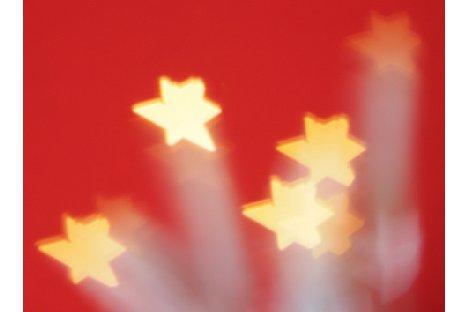 Bild Auch weihnachtliche Sterne können einfach gestaltet werden. [Foto: MediaNord]