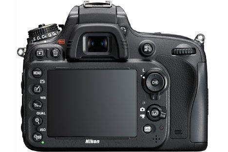 Bild Auf der Rückseite bietet die Nikon D610 neben einem SLR-Sucher einen 3,2 Zoll großen Bildschirm. [Foto: Nikon]