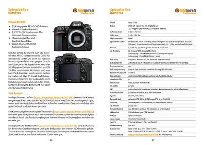 Bild Der Marktübersicht-Teil enthält zu jeder Kamera eine Doppelseite mit einer Kurzbeschreibung, Zitaten aus bis zu drei Tests und eine Tabelle mit wichtigen technischen Daten, Markteinführungszeitpunkt, UVP und Marktpreisen. [Foto: MediaNord]