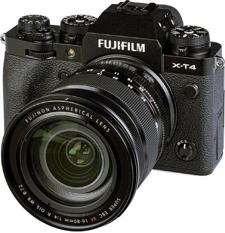 Bild Fujifilm X-T4 mit XF 16-80 mm R OIS WR. [Foto: MediaNord]