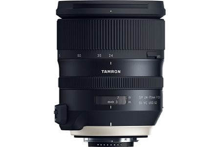 Bild Ab Anfang August 2017 soll das Tamron SP 24-70 mm f2.8 Di VC USD G2 (A032) zu einem Preis von knapp 1.700 Euro mit Canon-EF und Nikon-F-Anschluss (hier zu sehen) erhältlich sein. [Foto: Tamron]