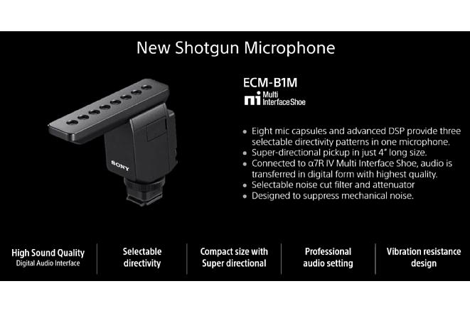 Bild Details zum neuen Digitalmikrofonfür die Sony Alpha 7R IV aus der Live-Präsentation von Sony. [Foto: Sony]