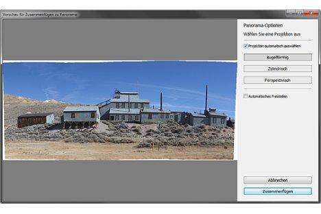 Bild Die neue Panorama-Automatik setzt direkt in Lightroom Einzelfotos zu einem Breitbild zusammen. [Foto: Martin Vieten]