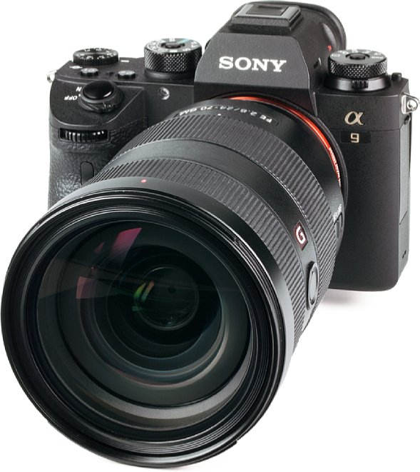 Bild Im Vergleich zur Sony Alpha 9 wirkt dasSony FE 24-70 mm F2.8 GM riesig. [Foto: MediaNord]
