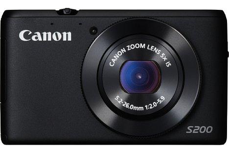 Bild Als Farbvariante bietet Canon die PowerShot S200 auch in Schwarz an. [Foto: Canon]