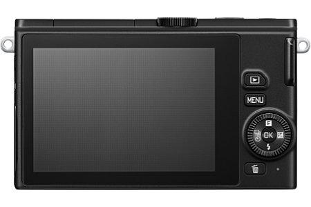 Nikon 1 J4 in Schwarz, ohne Objektiv. [Foto: Nikon]