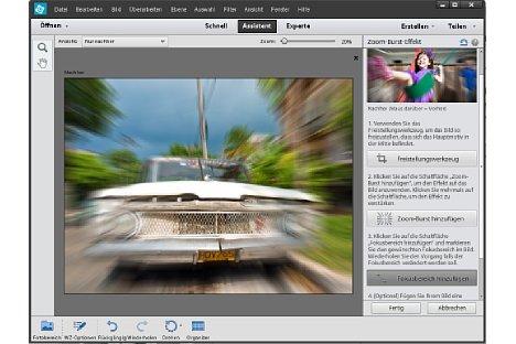 Bild Zoomeffekte entstehen mit einem neuen Assistenten, der wahlweise auch abgedunkelte Ränder erzeugt [Foto: Lucas Klamert]