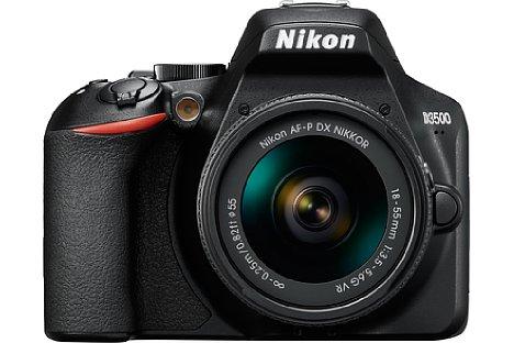 Bild Nikon D3500 mit AF-P 18-55 mm VR. [Foto: Nikon]