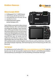 Bild Alle 10 derzeit aktuellen Outdoor-Kameras stellen wir auf jeweils einer Doppelseite vor. Neben den wichtigsten Highlights und einer Kurzbeschreibung zitieren wir, wo immer das möglich ist, auch aus bis zu drei Tests zu der jeweiligen Kamera. [Foto: MediaNord]