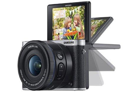 Bild Auch bei bodennahen Aufnahmen unterstützt die Klappfunktion des Displays der NX3000 den Fotografen. [Foto: Samsung]
