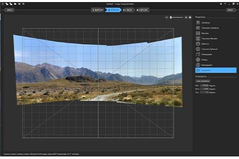 Bild Nach dem Stitchen ist es möglich, die automatisch gewählte Projektionsart zu wechseln. [Foto: MediaNord]
