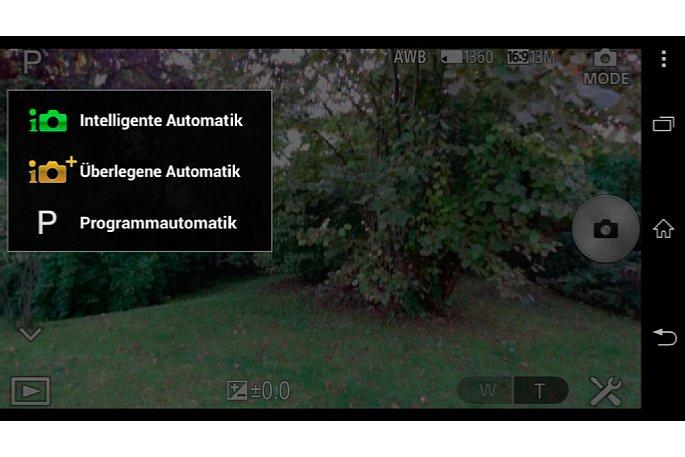 Bild Beim Modul QX10 gibt's neben den Vollautomatiken nur eine Programmautomatik zur Belichtungssteuerung.