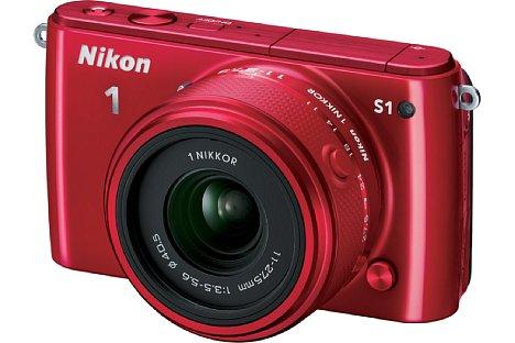 Bild ... und auch wieder in leuchtendem Rot wie seinerzeit die Nikon 1 J1. [Foto: Nikon]