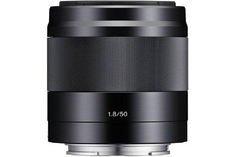Bild Das Sony E 50 mm F1.8 (SEL-50F18) wird küftig auch in Schwarz erhältlich sein. [Foto: Sony]