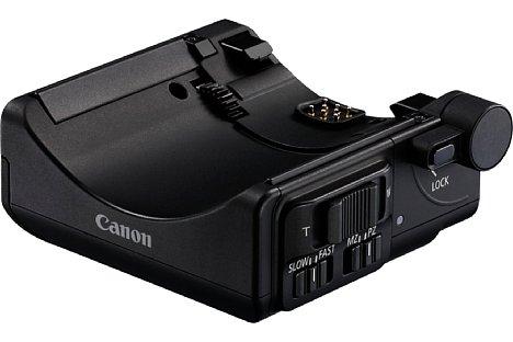 Bild Der optionale Power Zoom Adapter PZ-E1 erweitert dasCanon EF-S 18-135 mm 3.5-5.6 IS USM um eine motorische Zoomsteuerung, die mit passender Kamera und App sogar per WLAN gesteuert werden kann. [Foto: Canon]